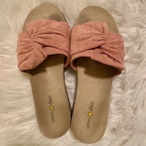 SEVEN DIALS Light Pink Slip On Sandals